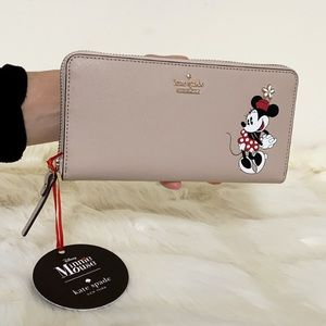 New💃Kate Spade Minnie Mouse Lacey Leather Wallet